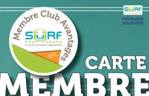 Commandez la carte Membre Club Avantages SURF